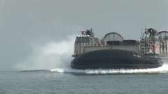 Landing Craft Air Cushion (LCAC) in support of Exercise Ssang Yong 14 Stock Footage