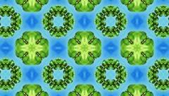 Aqua and green motion pattern, loop HD - stock footage