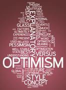 Word cloud optimism Stock Illustration