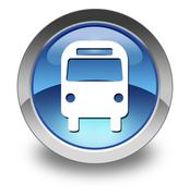 "Stock Illustration of icon/button/pictogram ""bus / ground transportation"""