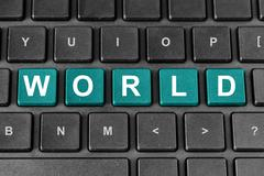 world word on keyboard - stock photo