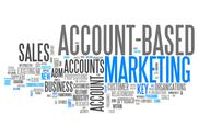 "Stock Illustration of word cloud ""account-based marketing"""