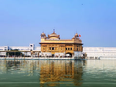 Golden Temple timelapse in Amritsar, Punjab, India Stock Footage