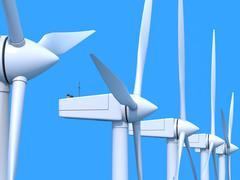 Tuulipuisto generaattorit Kuvituskuvat