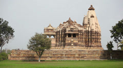Khajuraho Temple timelapse, Madhya Pradesh, central India Stock Footage