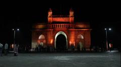 Gateway of India timelapse, Mumbai, India Stock Footage