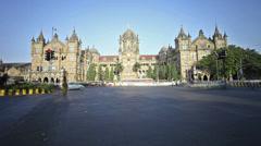 Chhatrapati Shivaji Terminus timelapse in Mumbai, India Stock Footage