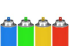 The spray cans Stock Illustration