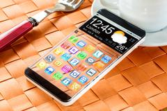 smartphone with a transparent display. - stock illustration