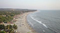 Arambol beach timalapse, Goa, India Stock Footage