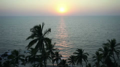Sunset in the ocean timalapse, Goa, India - stock footage