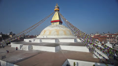 Pilgrims walking around Boudhanath Stupa timelapse, Kathmandu, Nepal Stock Footage