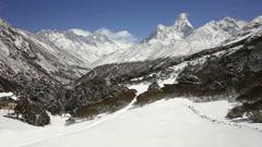 Timelapse from Tengboche Monastery, Tengboche, Everest region, Nepal Stock Footage