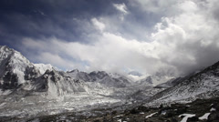 Timelapse view from Kala Patthar, Everest viewpoint, Himalaya, Nepal Stock Footage