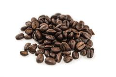 Handful of coffee beans Stock Photos