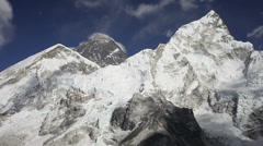 Everest, Nuptse and Lhotse timelapse from Kala Patthar Stock Footage