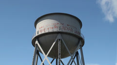Alcatraz Island Federal Penitentiary. Water Tower. Stock Footage