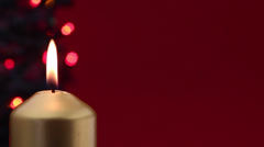 advent candle 3 - stock footage