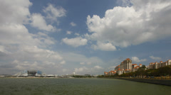 Tanjong Rhu Luxury Condominiums in Singapore along Kallang River Basin Timelapse - stock footage