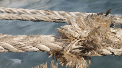 Closeup of Rope Stock Footage