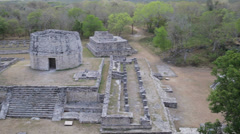 Observatory in mayan ruins Stock Footage