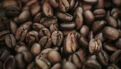 Macro of coffee beans Stock Footage