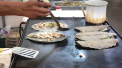 Mexican street food - stock footage