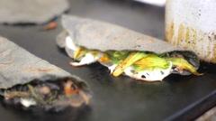 Mexican quesadillas - stock footage