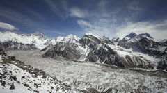 Timelapse view from Gokyo Ri, Everest region, Himalaya, Nepal Stock Footage