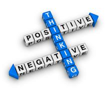 Positive and negative thinking Stock Illustration