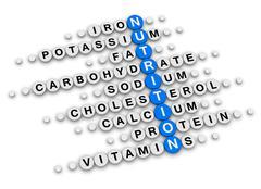 Nutrition facts crossword Stock Illustration