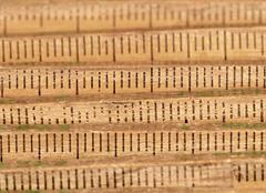 Old wood folding rule Stock Photos