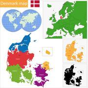 Stock Illustration of Denmark map