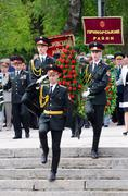 Ceremonial parade at alley of glory,Victory Day,Odessa,Ukraine Stock Photos