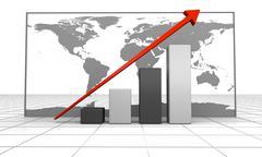 Global growth - stock illustration