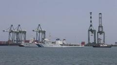 Port and Harbor Chennai India Stock Footage