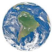 Stock Illustration of Model of Earth facing South America