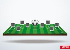 Stock Illustration of Concept participants playing soccer