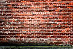 High Contrast Red Brick Backdrop or Background - stock photo