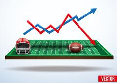 Concept of statistics about the game of football - stock illustration