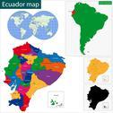 Ecuador map Stock Illustration