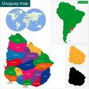 Uruguay map Stock Illustration