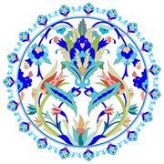 ottoman motifs design series with twenty - stock illustration