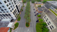 Stock Video Footage of City Streets, Aerial view in Coral Gables, Florida