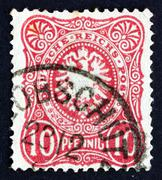 Postage stamp Germany 1875 Coat of Arms of Germany Stock Photos