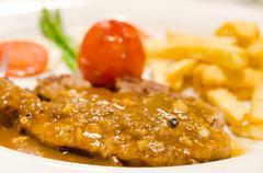 Sirloin beef steak - stock photo