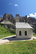 Dolomiti - small church - stock photo