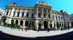 Headquarters of National Bank of Romania - protune Stock Footage
