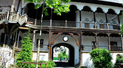Bucharest, Romania -  Architecture of Manuc's  Inn 1808 - protune Stock Footage