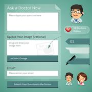 doctors online consultation form - stock illustration